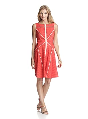 Vince Camuto Women's Sleeveless Fit and Flare Dress (Spicy Orange)