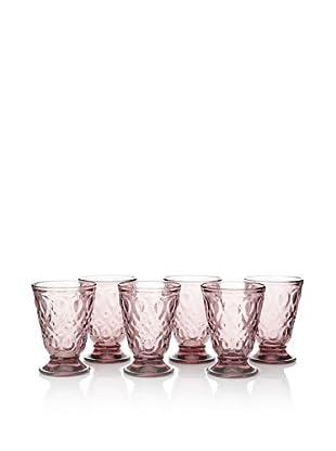 La Rochère Set of 6 Lyonnais Décor Amethyst 7-oz. Goblets