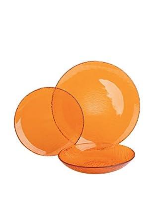 Molecuisine Geschirr 12 tlg. Set Scratch orange