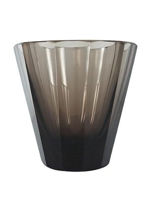 Cut Glass Vase, Grey