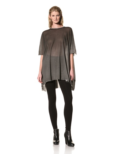 RICK OWENS Women's Poncho Top (Black/White)
