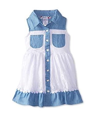 Speechless Girl's Chambray & Lace Dress