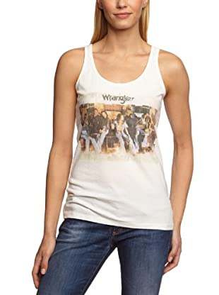 Wrangler Top sin April Printed (Blanco)