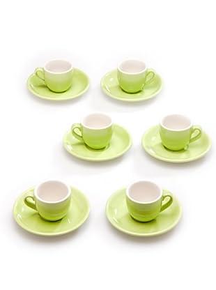 Tognana Set 6 Tazze Caffè (verde)