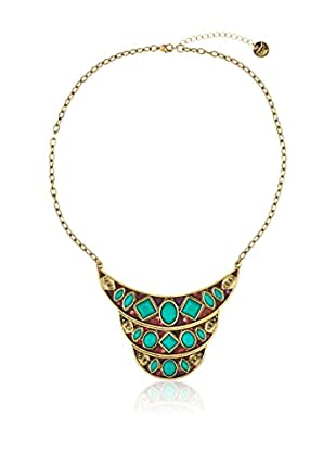 Desigual Halskette Green Flavou goldfarben/grün