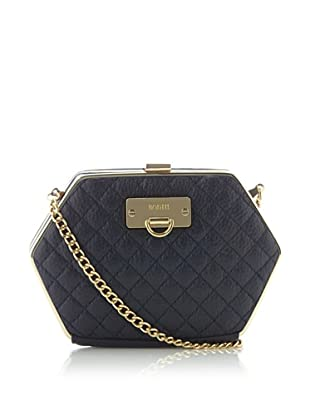 Bodhi Women's Quilted Framed Clutch, Navy