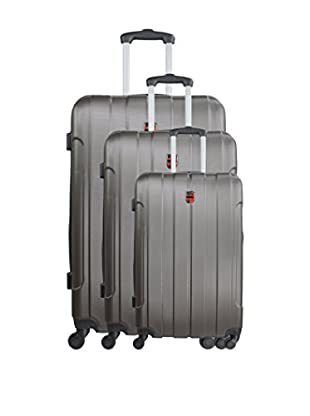 GEOGRAPHICAL NORWAY Set de 3 trolleys rígidos Spencer