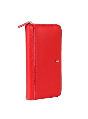 Nava Design Portafoglio Zip Saffiano (Rosso)