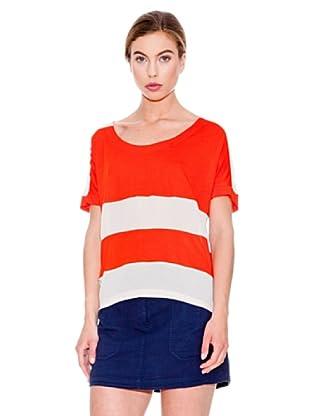 Mango Camiseta Mitte (Naranja)