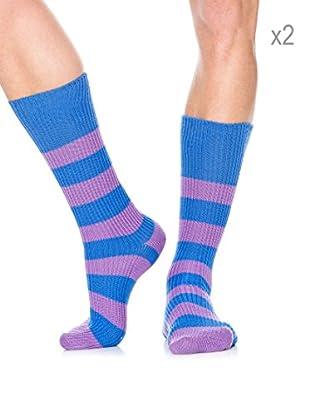 Pepe Jeans London Pack x2 Calcetines Socks Sport (Multicolor)