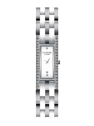 K&BROS 9143-2 / Reloj de Señora  con brazalete metálico blanco