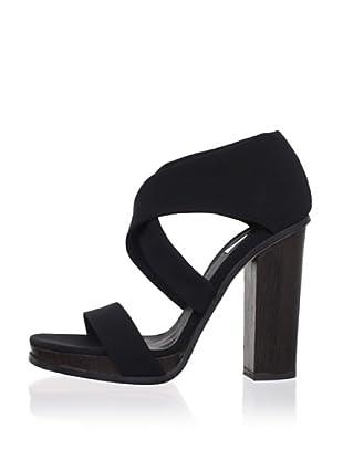 Calvin Klein Collection Women's Fiana Strappy Sandal (Black)