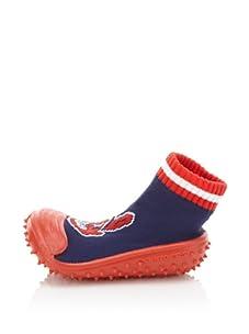 Skidders Cleveland Indians Shoe Socks (Blue)