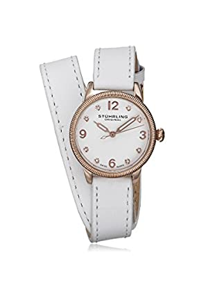 Stührling Women's 646.03 Vogue Crystals Double Wrap White Watch