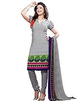 Riti Riwaz Women's Suit With Dupatta (UD10012B_Light Gray_Free Size)