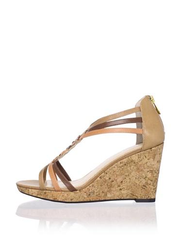 Adrienne Vittadini Women's Carmen Platform Sandal (Oakwood)