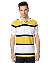 Allen Solly White Regular Fit Striped Tee