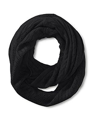 Cullen Women's Cashmere Multi-Texture Infinity Scarf, Black