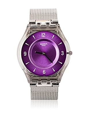 Swatch Quarzuhr Woman METAL KNIT PURPLE SFM121M 34.0 mm