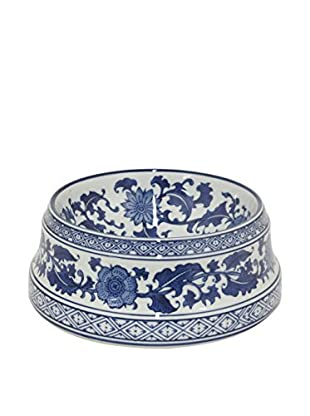 Three Hands Large Ceramic Bowl, Blue