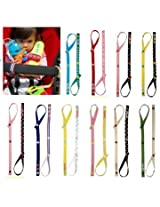 2Pcs Baby Toy Fixed To Carry Safety Seat Stroller Toys Hanging With Pacifier Chain
