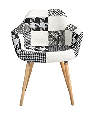 Only Deco Sessel schwarz/weiß