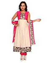 Sanskruti Creations Women Silk Cotton Salwar Suit Set (Sc-306-Pink-M _Pink _Medium)
