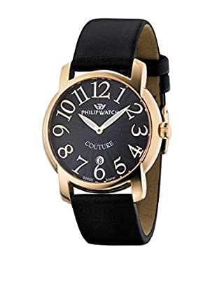 Philip Watch Quarzuhr Couture schwarz 38  mm