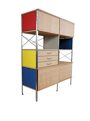 Stilnovo Mid-Century Storage Unit, Walnut/Multi