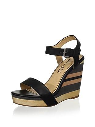 Splendid Women's Kikka Wedge Sandal (Black)