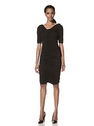 Nue by Shani Women's Ruched Dress (Black)