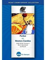 1996 NCAA(r) Division I Men's Basketball 1st Round - Purdue vs. Western Carolina