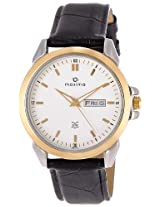 Maxima Analog White Dial Men's Watch - 26345LMGT