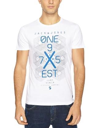 JACK & JONES Camiseta Fletch S/S (Blanco)