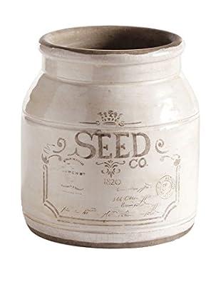 Napa Home and Garden Paris 1914 Small Seed Vase, White