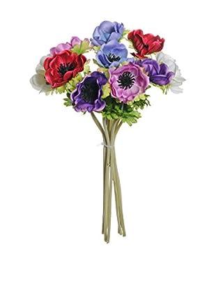 Kunstblumen 12 tlg. Set mehrfarbig