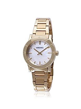 Versace Women's VQA050000 Acron Diamond & Silver Stainless Steel Watch