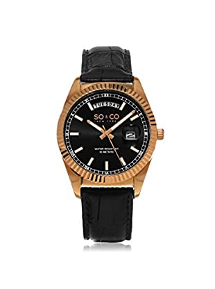 SO&CO New York Men's Madison Metal Watch, Black/Grey