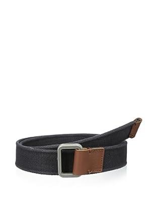Original Penguin Men's Solid Webbed Belt (Black)