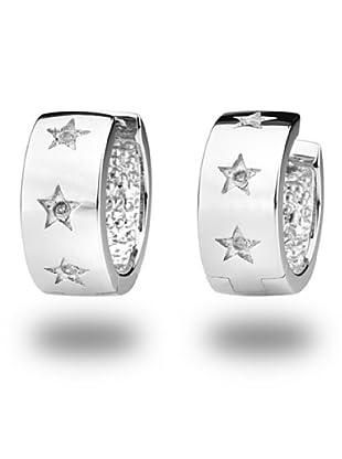 Secret Diamonds 60250059 - Pendientes de mujer de plata de ley con 6 diamantes