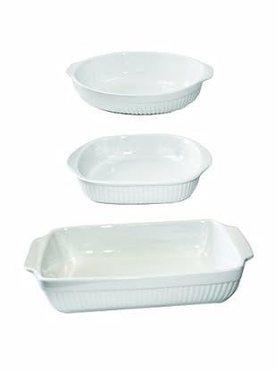 BergHOFF Bianco 3-Piece Baking Set, White