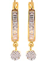 Ada Designer Jewellery Gold Silver Alloy Dangle & Drop Earrings for Women (ER-5)