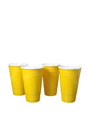 AdNArt Set of 4 Fun Party Cup (Yellow)