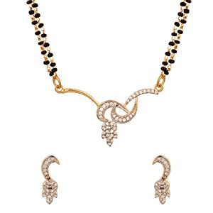 Voylla Auspicious Mangalsutra Featuring Double Chain with Dainty Curves Details