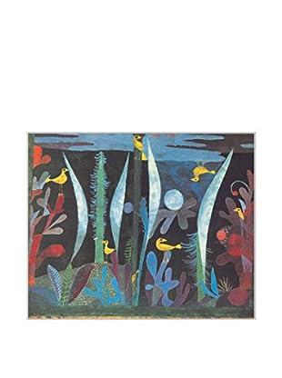 ArtopWeb Panel de Madera Klee Paesaggio con Uccelli Gialli 31x38 cm