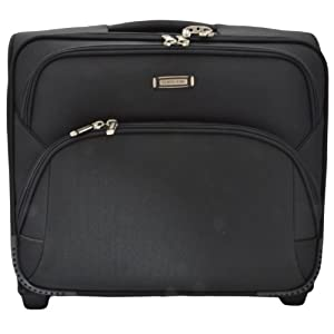 SMS Bags Overnighter Black Coloured Laptop Trolley