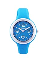 Columbia Women's CT005410 The Escapade Classic Analog Watch with Dark Turquoise Silicone Strap Watch