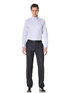 GF Ferré Men's Stripe Dress Shirt (Light Blue Stripe)
