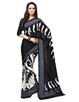 Vibes Crepe Patch Work Saree (S36-5104B _Multi-Coloured)