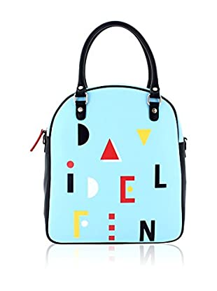 davidelfin Bolso asa al hombro Name Game Bag Azul